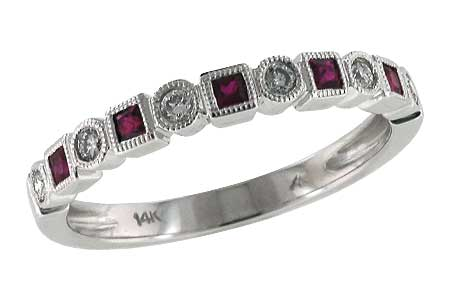 K142-52270: LDS WED RG .18 RUBY .30 TGW
