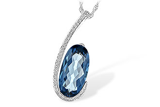 A235-19543: NECK 4.48 LONDON BLUE TOPAZ 4.60 TGW