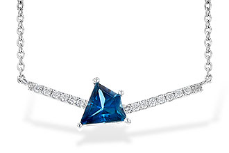 A236-15834: NECK .87 LONDON BLUE TOPAZ .95 TGW