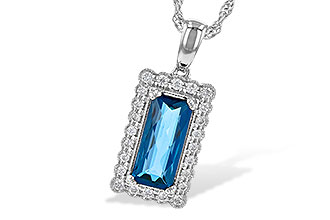D236-16743: NECK 1.55 LONDON BLUE TOPAZ 1.70 TGW