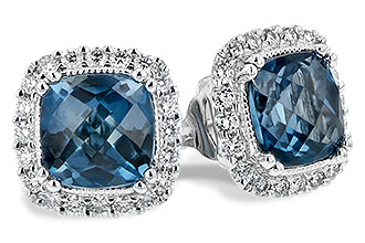 F235-19479: EARR 2.14 LONDON BLUE TOPAZ 2.40 TGW