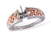 G231-58552: K051-57670 W/ ROSE GOLD INSERT .04 TW