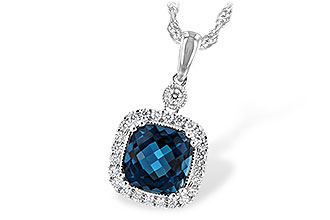 H235-19461: NECK 1.63 LONDON BLUE TOPAZ 1.80 TGW