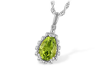 H235-22261: NECKLACE 1.30 CT PERIDOT