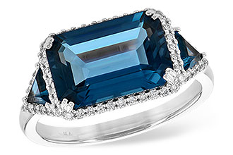 K236-11315: LDS RG 4.60 TW LONDON BLUE TOPAZ 4.82 TGW