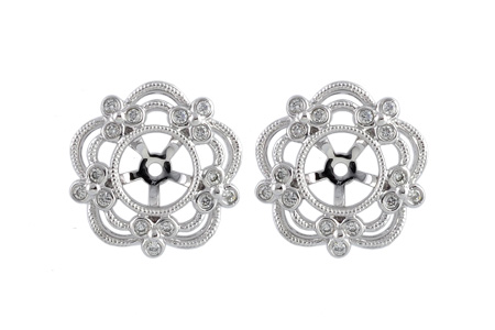 M231-58633: EARRING JACKETS .16 TW (FOR 0.75-1.50 CT TW STUDS)